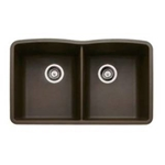 brown granite sink double bowl raleigh